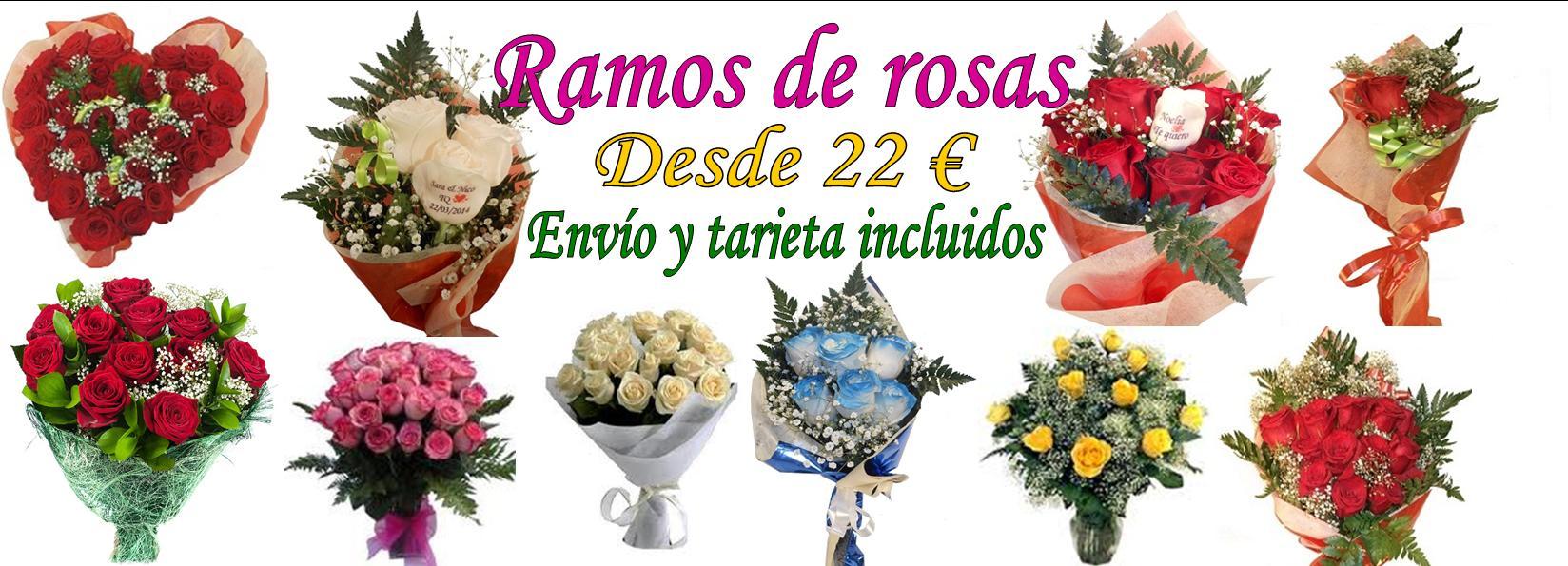 Enviar ramo de rosas desde 22 €